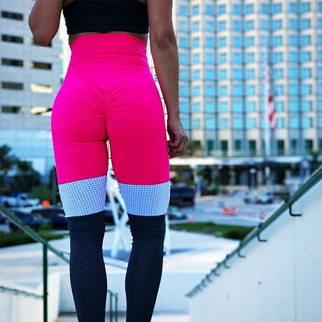 Tall waist Mesh Patchwork Fitness Push Up Leggings Summer Women Casual Elastic Leggings Adventure Time Workout Cool Sexy Pants 3