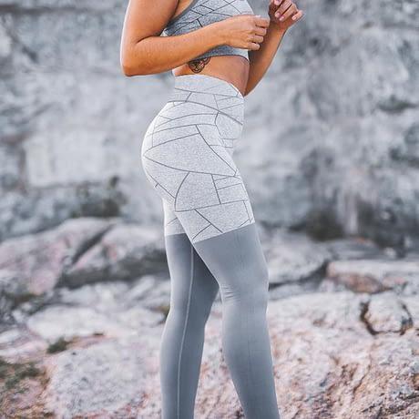 High Waist Women's Leggings, Breathable Slim Legging Sets Women's Clothing 1