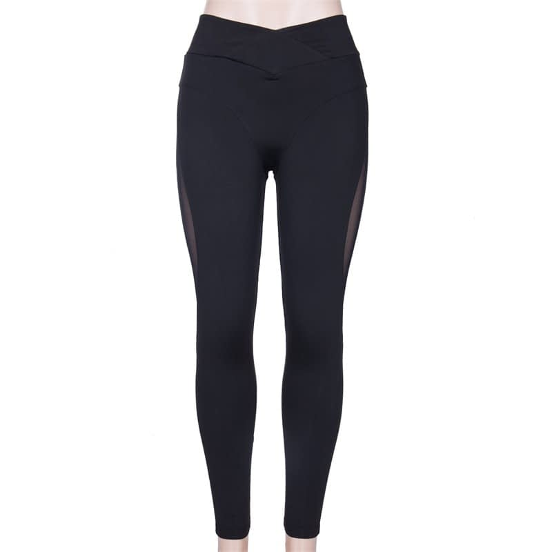 New Sexy Mesh, Patchwork, Stretchy Sporting Legging, Women's Booty Leggings, Elastic Waist Fitness Push Up 11