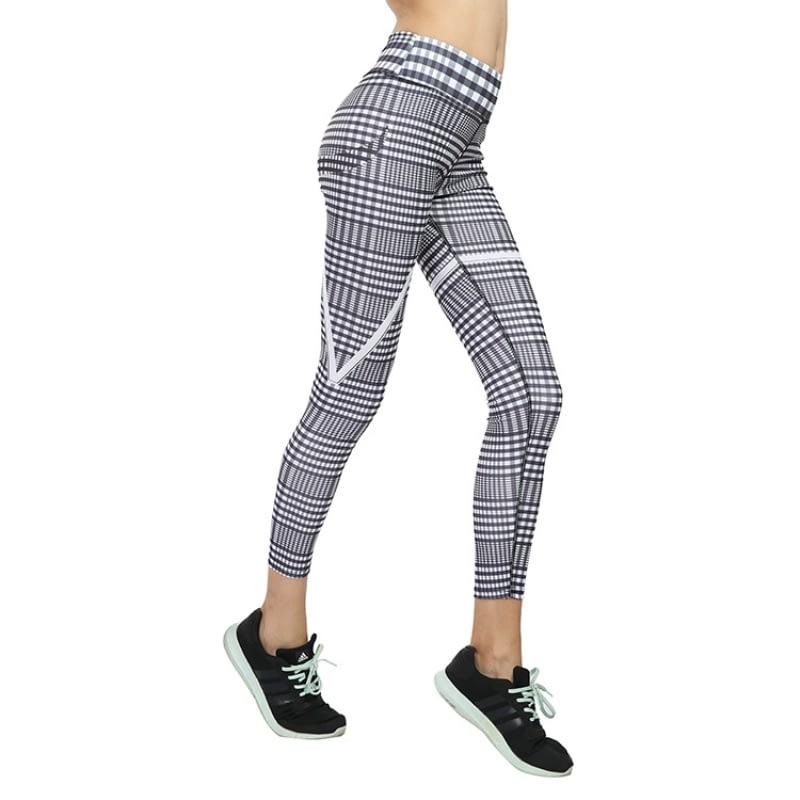 New Plaid V Digital Printing Leggings, Hip Elastic Waist, Hip Elastic High Waist Legging Breathable Pants 10