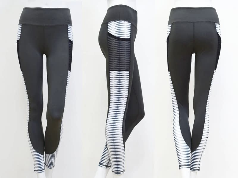 New Harajuku Striped Leggings, Women's Mesh Pocket Legging 10