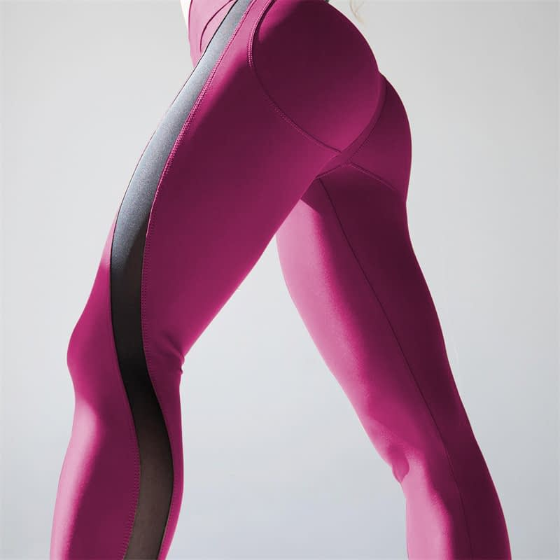 New Sexy Mesh, Patchwork, Stretchy Sporting Legging, Women's Booty Leggings, Elastic Waist Fitness Push Up 6