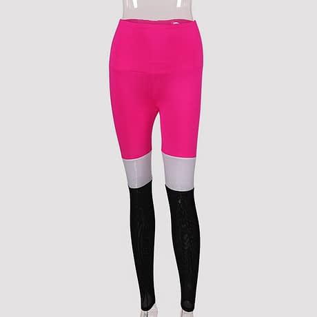 Tall waist Mesh Patchwork Fitness Push Up Leggings Summer Women Casual Elastic Leggings Adventure Time Workout Cool Sexy Pants 5