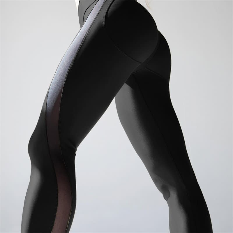 New Sexy Mesh, Patchwork, Stretchy Sporting Legging, Women's Booty Leggings, Elastic Waist Fitness Push Up 9