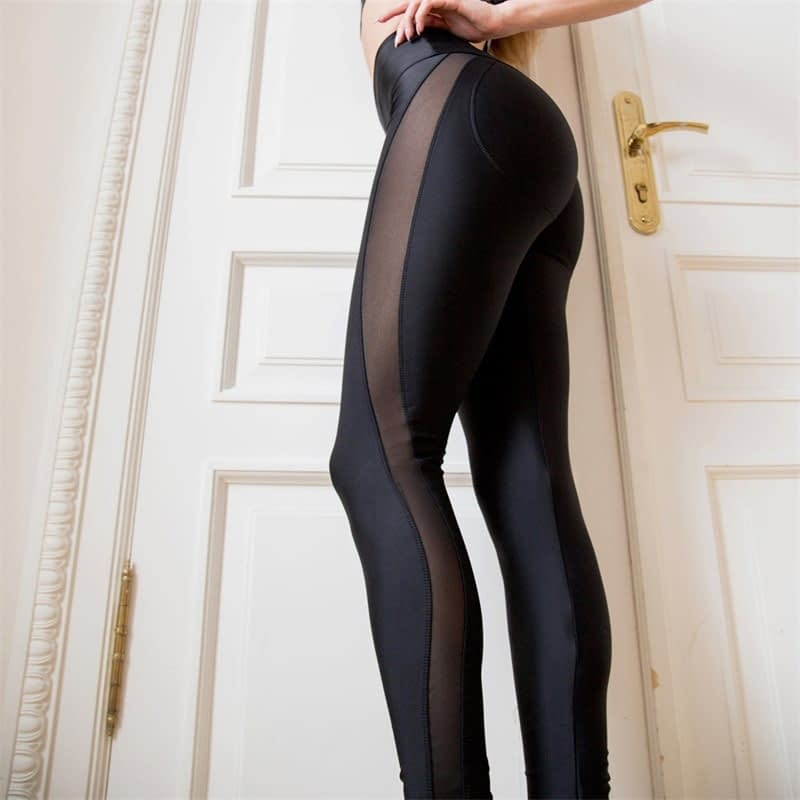 New Sexy Mesh, Patchwork, Stretchy Sporting Legging, Women's Booty Leggings, Elastic Waist Fitness Push Up 10
