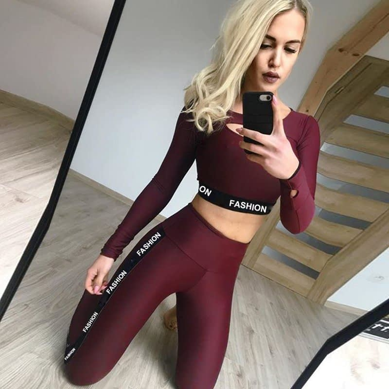 New 2pcs Yoga Set Tracksuit Women Gym Clothing Patchwork Fitness Sport Suit Female Summer Running Sportswear Workout Clothes 21