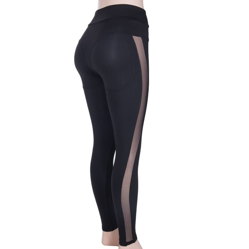 New Sexy Mesh, Patchwork, Stretchy Sporting Legging, Women's Booty Leggings, Elastic Waist Fitness Push Up 12
