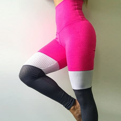 Tall waist Mesh Patchwork Fitness Push Up Leggings Summer Women Casual Elastic Leggings Adventure Time Workout Cool Sexy Pants 2