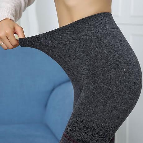 Winter Leggings, Women's High Waist Warm Leggings 3
