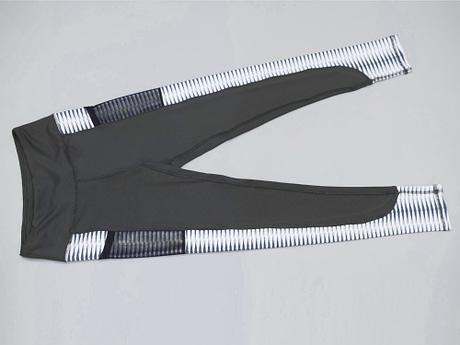 New Harajuku Striped Leggings, Women's Mesh Pocket Legging 5