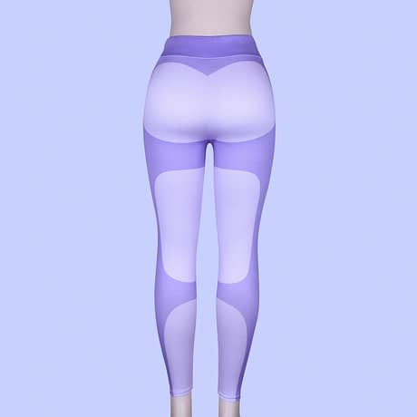 Patchwork Heart Leggings, Women's Activewear Push Up Legging 3
