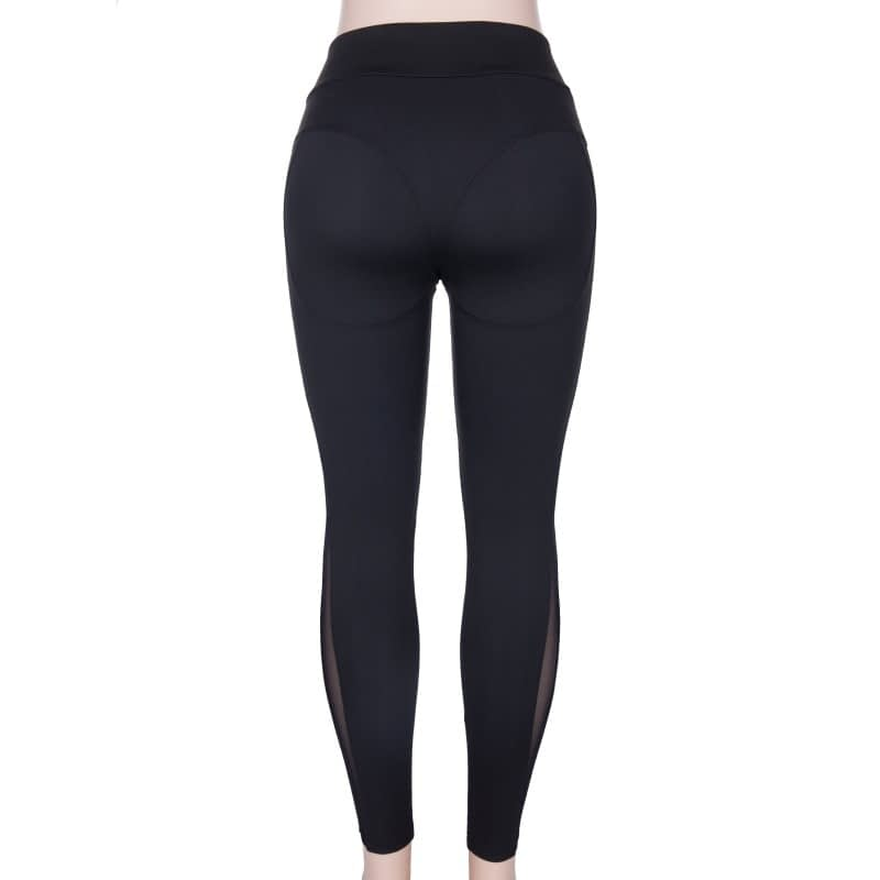 New Sexy Mesh, Patchwork, Stretchy Sporting Legging, Women's Booty Leggings, Elastic Waist Fitness Push Up 13