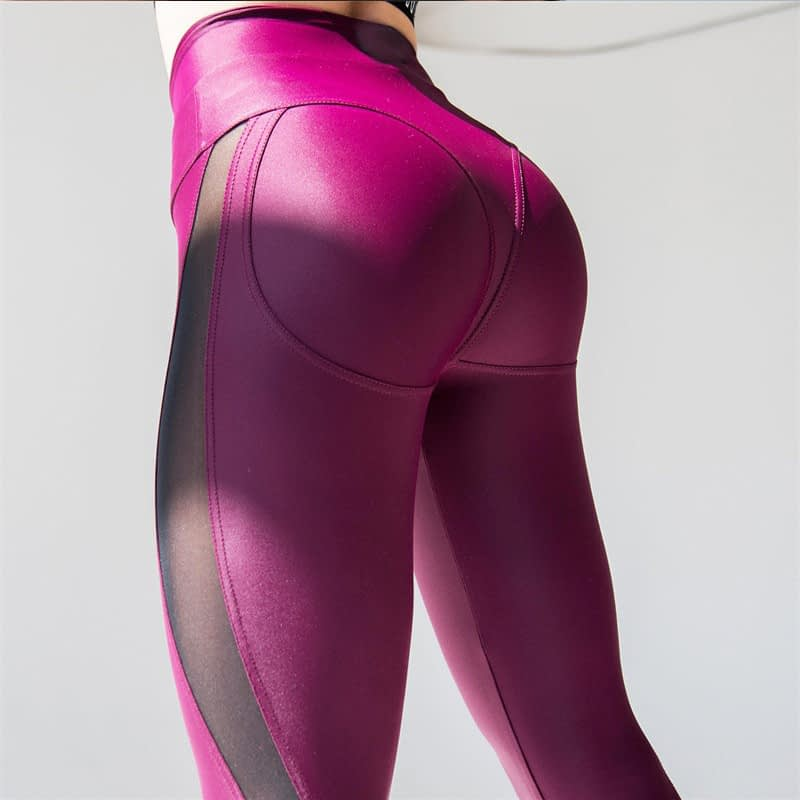 New Sexy Mesh, Patchwork, Stretchy Sporting Legging, Women's Booty Leggings, Elastic Waist Fitness Push Up 5