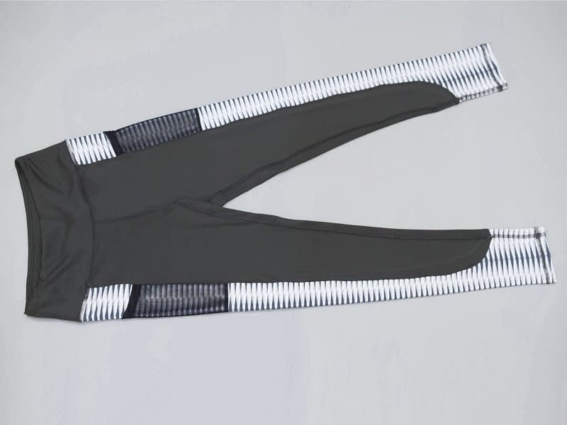 New Harajuku Striped Leggings, Women's Mesh Pocket Legging 12