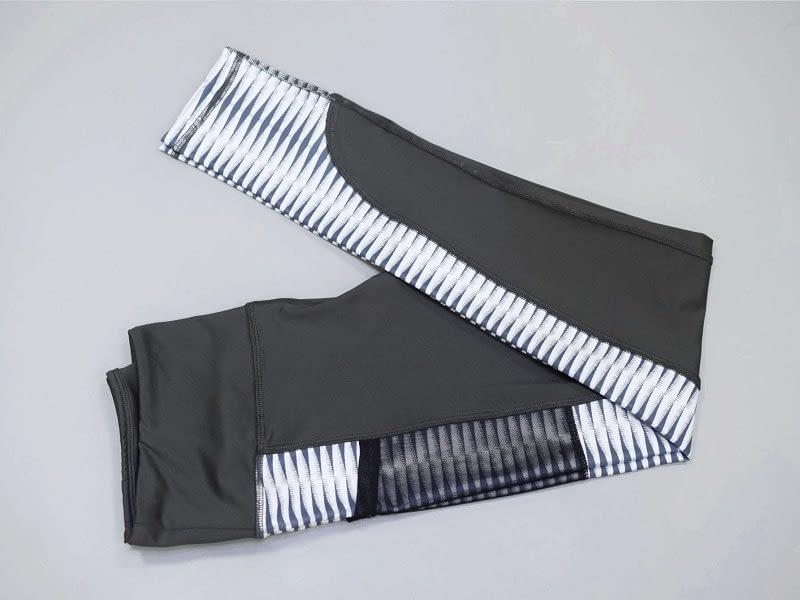 New Harajuku Striped Leggings, Women's Mesh Pocket Legging 11