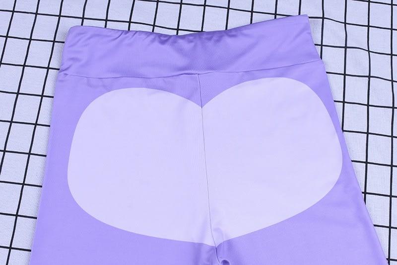 Patchwork Heart Leggings, Women's Activewear Push Up Legging 21