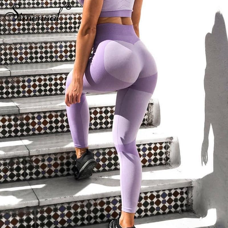 Patchwork Heart Leggings, Women's Activewear Push Up Legging 9