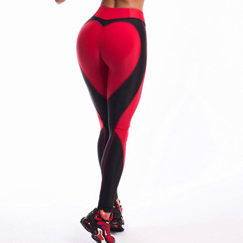 Heart Shape Love Leggings, Women's Sporting High Waist Fitness Leggings With Pocket 31