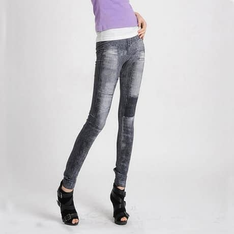 Women's Denim Leggings,Thin Jeans, Casual Denim Leggings 4