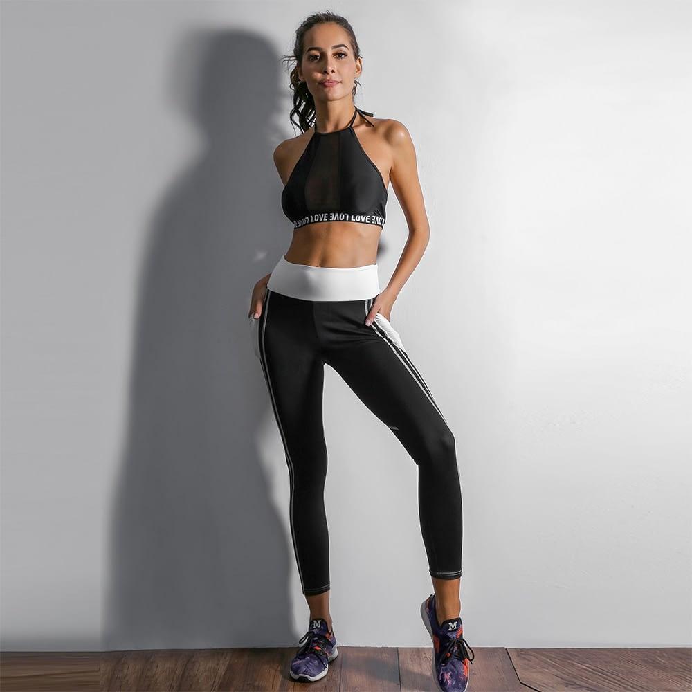 Heart Shape Love Leggings, Women's Sporting High Waist Fitness Leggings With Pocket 25